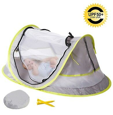 MinGz Large Baby Travel Tent, Portable Baby Travel Bed UPF 50+ Sun Travel Cri...