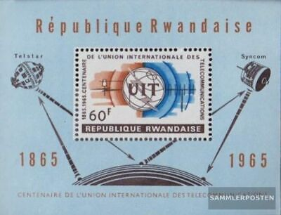 Ruanda Block4A (kompl.Ausg.) postfrisch 1965 International Fernmeldeunion