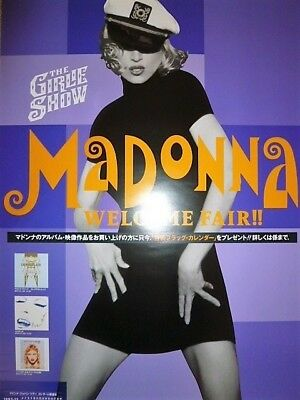 MADONNA - The Girlie Show Welcome Fair : JAPAN promo-only POSTER 1993 : not CD