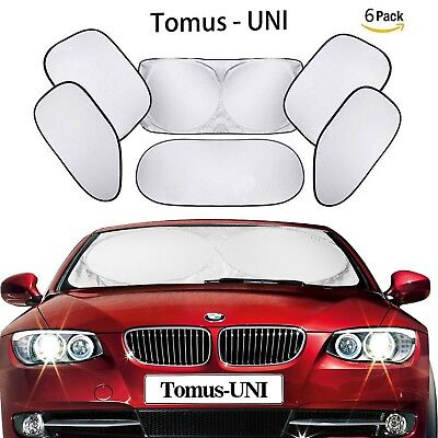 Tomus-UNI 6 Piece Car Windshield Sunshade Window Sunshade Protector Foldable ...