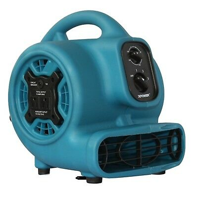 XPOWER P-230AT 1/5 HP 800 CFM 3 Speeds Mini Air Mover with 3-Hour Timer and B...