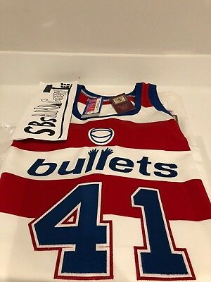12b95bac4f0 ... spain wes unseld 41 washington bullets jersey mitchell ness size xl 52  new w c3f1d 86ce8