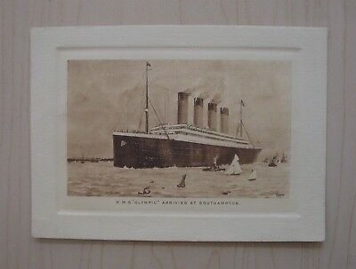 Rare Rms Olympic White Star Line Abstract Card Capt. E J Smith 1911 Pre-Titanic