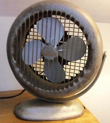 Vintage LASKO FAN Industrial Art Deco Wall Mount Desktop Model No. 52 WORKS!
