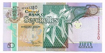 2011 SYCHELLES 50 RUPEES NOTE - p42