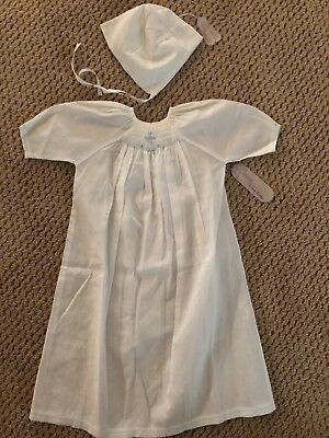 Kissy Kissy Newborn Boy'S Christening Gown With Cap New W Tags