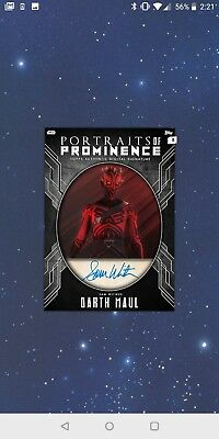Topps Star Wars Card Trader Portraits Of Prominence Steel Sig Darth Maul