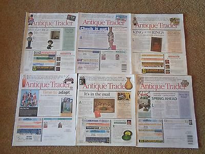 Lot of 6 ANTIQUE TRADER MAGAZINES BOOKS 2001-2003 Collectibles Guide Informative