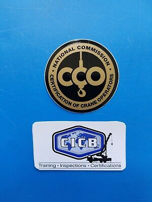 CCO CICB Crane Safety Training Certification Union Equipment Hardhat Stickers