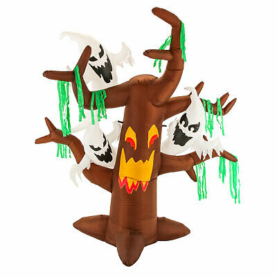 Halloween Haunters 6ft Inflatable Dead Tree Ghosts LED Yard Prop Decoration Boo