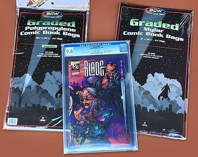 25 BCW Graded Comic Mylar Bags 2 mil NEW CGC CBCS SLAB  9 Inches Wide