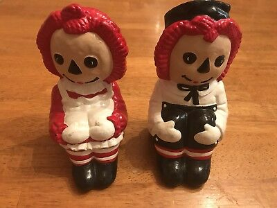 "Raggedy Ann and Andy 5.5"" Bookends Used"