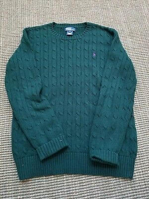 size Large boys POLO RALPH LAUREN Green cable knit sweater