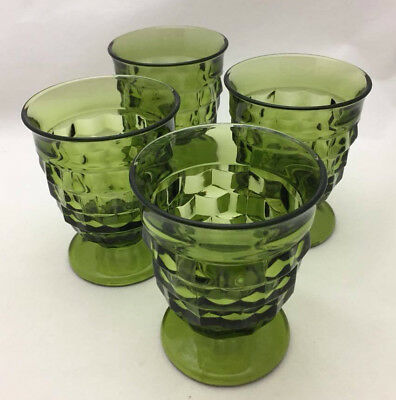 Indiana Glass American Whitehall Footed Juice Glasses (set of 4)