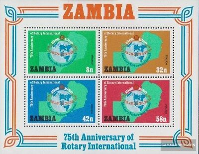 Sambia Block7 (kompl.Ausg.) postfrisch 1980 Rotary International