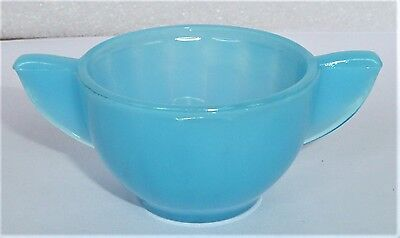 Akro Agate Large Interior Panel Blue Luster Sugar ~ Children's Tea Set