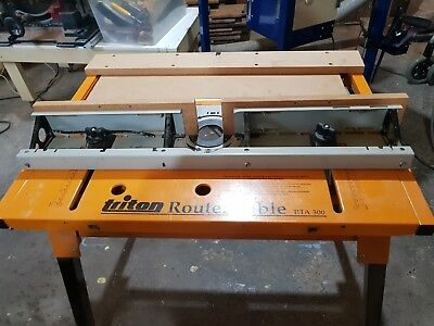 Triton RTA300 Router Table With Stand including the Triton finger jointer
