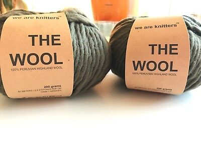 We Are Knitters - The Wool - 2 Stück in der Farbe Olive