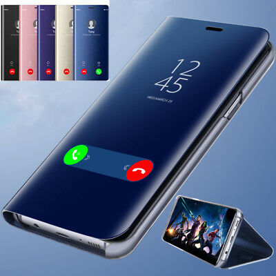 For Samsung Galaxy J2 Prime J5 Clear View Mirror Touch Leather Flip Case Cover