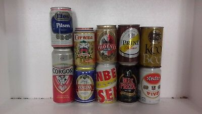 10 Beer Cans from 10 Different Countries OCOC