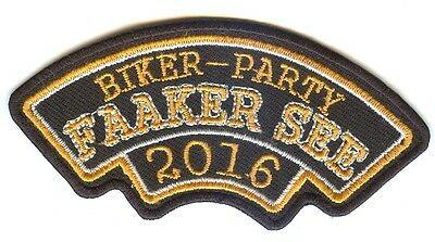 FAAKER SEE Biker Party * 2016 * Aufnäher Patch