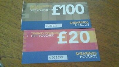 Shearings holiday vouchers