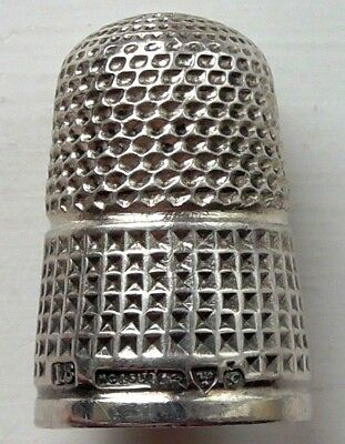 Edwardian Hallmarked Solid Silver Thimble 1907 - Superb Condition