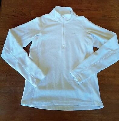 MACPAC Womens Size 12 White Fleece Lightweight Travel Outdoors Ladies Jumper EUC