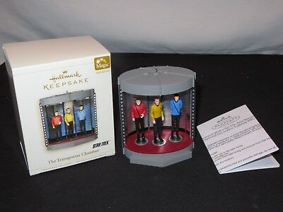 Hallmark Keepsake Ornament STAR TREK TRANSPORTER CHAMBER Magic Sound Light (m743