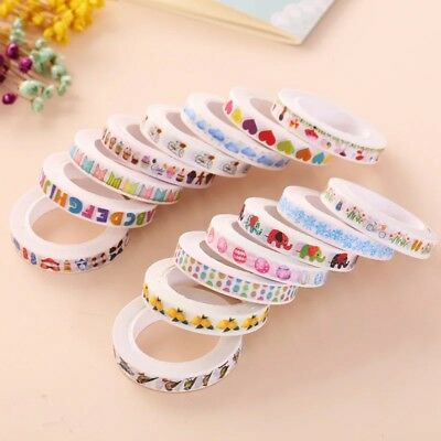 DIY Washi Tape Sticker Decorative Cute Paper Colorful Masking Scrapbook 8mm*10m
