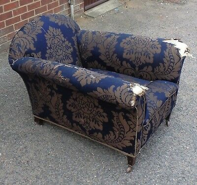 Victorian antique mahogany country house club armchair possibly Howard & Sons