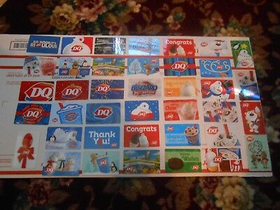 Dairy Queen Gift Card Collection Lot Of 39 Different Cards All New !!no Cash Val