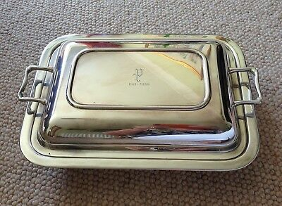 Vintage 1930s Tureen & Cover In EPNS Silver Plate With Pyrex Glass Inner