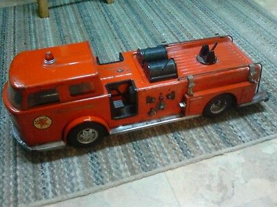 Vintage Buudy L Texaco Fire Chief 25 inch long 1960? Press Steel