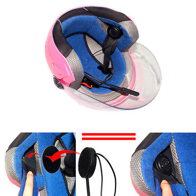 USB Mic/Speaker Headset Helmet Clip Mount bluetooth Motor Intercom Interphone