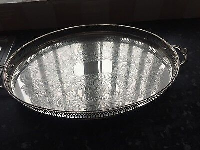 Cavalier Silver plated galley edged tray