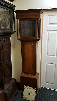 Antique Oak & Mahogany Longcase Grandfather 30hr Clock Restoration