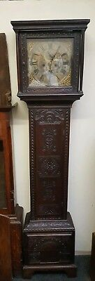 Antique Carved Oak Longcase Grandfather Clock Restoration