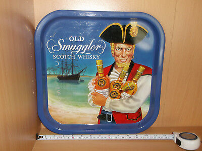 Whisky Old Smuggler Scotch Whisky Blechschild/Tablett -sehr selten-