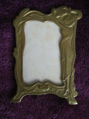 Art Nouveau picture frame with glass Vintage Antique photo frame stand small