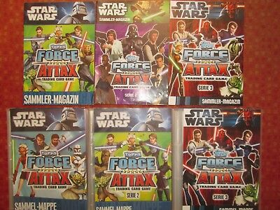 Star Wars Topps Force Attax Trading Cards Serie 1 o. 2 o. 3