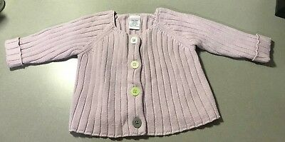 Gymboree Purple Long Sleeve Knitted Button Up Sweater 3-6 Months