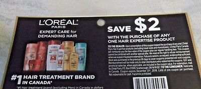 COUPONS - Save 7 x $2 on L'OREAL PARIS HAIR EXPERTISE PRODUCT - CANADA ONLY