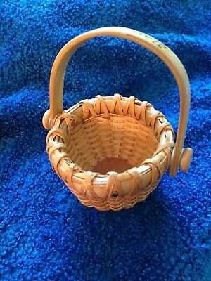 Miniature Nantucket Lightship basket