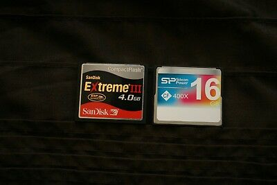SanDisk 4GB + 16GB Extreme III CF Compact Flash Card 400X Silicon Power SP memor