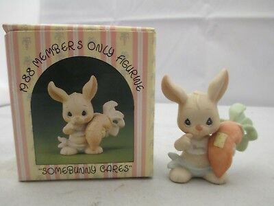 Precious Moments 1988 Members Only Figurine Some Bunny Cares Nib