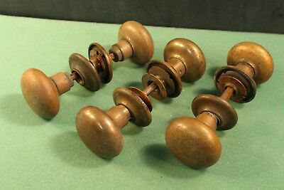 Lot Of 3 Vintage Brass Door Knobs Antique Handles