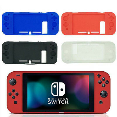 Silicone Rubber Gel Console Protective Skin Soft Case Cover For Nintendo Switch