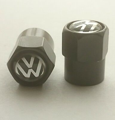 Dust caps. Black stem with a shiny top. Fit Vw vehicles