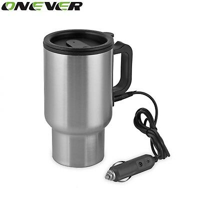 Onever 450ML Auto Car Heating Adjustable Temperature Car Boiling Electric Kettle